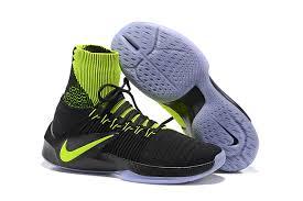 nike basketball shoes 2018. nike hyperdunk 2016 flyknit men\u0027s basketball shoes black fluorescent green 2018 l