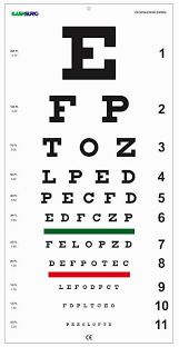 Picture Vision Chart Snellen Plastic Eye Chart 20 Feet 22 X 11inches