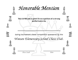 Honorable Mention Certificate Next Form