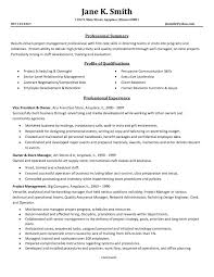 Data Management Resume Objective Examples Project Manager Resume