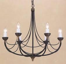 cirrus 6 light chandelier matt black