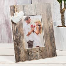 personalised distressed wood photo frame