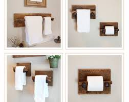towel stand wood. Reclaimed Bath Rack Set - Large Towel Hanger, Two Hand Holders And Toilet Stand Wood