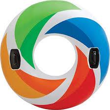 <b>Надувной круг Intex</b> Цветной Вихрь с ручками, 58202 купить в ...