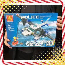 Xả Hàng] ĐỒ CHƠI TRẺ EM - Xếp hình Lego Máy bay Cảnh sát Chiến Đấu (3 in 1)  - Đồ Chơi Lắp Ráp (An Toàn)