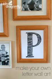 how to create letter wall art