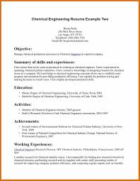 1 2 Chemical Engineer Resume Genericresume