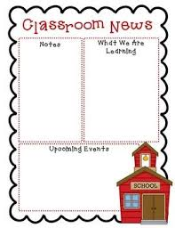 Free Teacher Newsletter Templates Free Newsletter Templates Second Grade Newsletter Templates