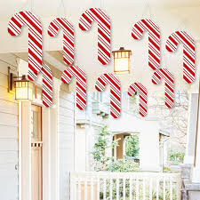 Candy Cane Yard Decorations Hanging Candy Cane Outdoor Christmas Porch Tree Yard 82