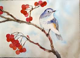 watercolor painting simple paintings of birds watercolors and easy paintings on