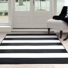 com lavish home breton stripe rug 1 8 by 5 black white