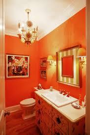 15 cool orange bathroom design ideas charming small bathroom with orange wall decor with vanity