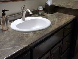 formica 180fx laminate slate sequoia was used for this bathroom vanity countertop