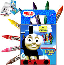Also try other coloring pages from cartoons category. Amazon Com Thomas The Train Activity Coloring Book With Colorful Large Jumbo Crayons Toys Games