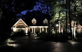 lighting a house. Landscape Lighting Outside Of A House N