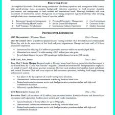 Executive Chef Resume Examples Culinary Management Resume Examples Culinary Resume 60 for 2