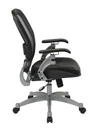 Amazon Com Light Air Grid Chair With Leather Seat And Platinum