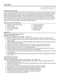 resume templates biochemistry lifeguard - Biochemistry Resume