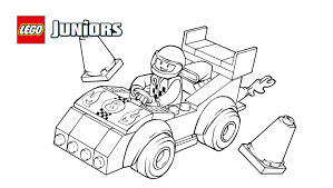 racecar coloring page. Plain Page LEGO Juniors Race Car Coloring Page For Racecar I