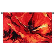 on wall art red with ewa 7655 red these dreams belgian tapestry wall art