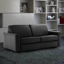 leather sofa bed. Simple Leather Florence 3 Seater Italian Leather Sofa Bed With Foam Mattress Black On