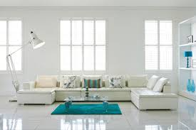 Living Room Gorgeous White Flooring On Bright Living Room With