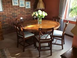 beautiful inlaid round dining table 6 chairs 5ft diameter fultons