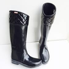 63% off Hunter Boots - Hunter authentic black quilted rain boots ... & Hunter authentic black quilted rain boots Sz 9 Adamdwight.com