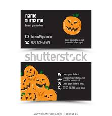 Halloween Business Cards Modern Business Card Template Halloween Theme Royalty Free
