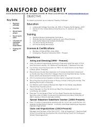 Adjunct Faculty Resume Impressive College Adjunct Professor Resume Example Classic Template Associate
