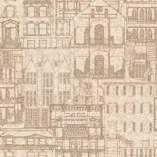 architecture blueprints wallpaper. Beacon House Facade Sand Vintage Blueprint Wallpaper Sample Architecture Blueprints Wallpaper P