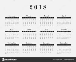 one page calender one page calendar 2018 fashion design stock vector kerdazz7