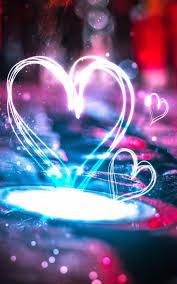 Wallpaper iphone neon, Heart wallpaper ...