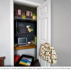 office in a closet. Diy Closet Office. Office N In A