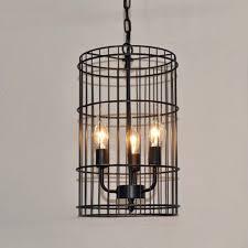 Industrial Cage Light Fixture