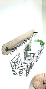 wall shelf with baskets and hooks shelf with baskets and hooks wire basket shelf with two