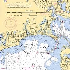 Cape Cod Chart Massachusetts Hyannis Harbor Cape Cod Nautical Chart Decor