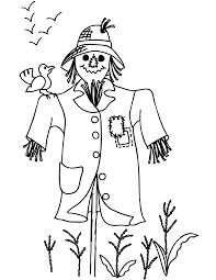 Small Picture scarcrow color sheet Free Printable Scarecrow Coloring Pages For