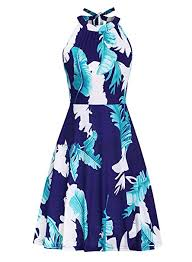 Ruiyige Women's Stand Collar Floral Summer ... - Amazon.com