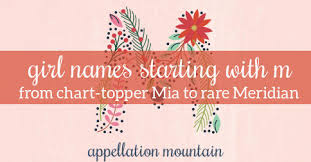 names starting with m mia