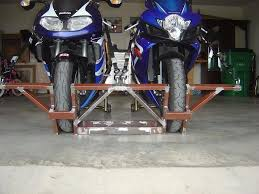 motorcycle wheel chocks by misfire homemade motorcycle wheel chocks constructed from rectangular tubing and