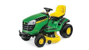 studio image of e130 lawn tractor