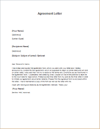 sample agreement letters agreement letter template for word word excel templates