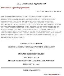 Operating Agreement Template New Jersey Templates Small Business Llc ...