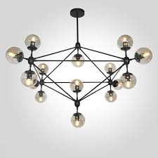 details about modo glass chandelier ceiling led ball light lighting bulbs pendant lamp fixture