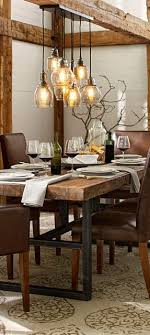 lighting for kitchen table. rustic lighting wood dining tablesreclaimed for kitchen table