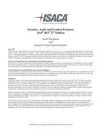 Sample Audit Program Extraordinary Sap Audit Programsandicqs