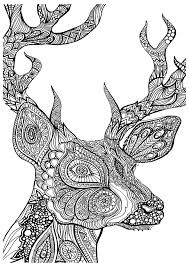 Small Picture Grown up coloring pages reindeer head ColoringStar