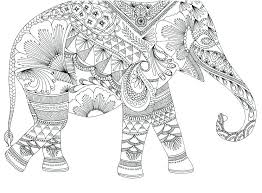 Elephant Coloring Pages For Adults Henna Coloring Pages Henna