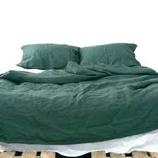 olive duvet cover emerald natural linen bedding set dark green duvet cover us twin olive green